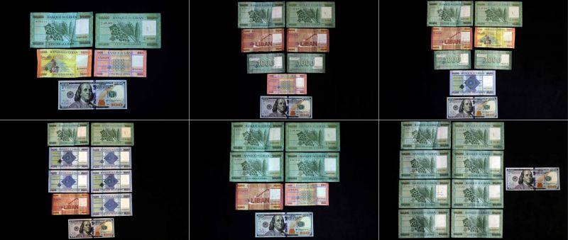 Sur le marché noir, le dollar flotte au-dessus de la barre des 9000 livres