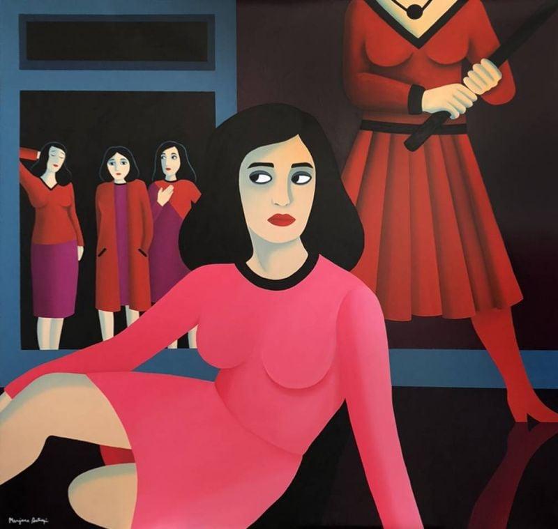 Marjane Satrapi peintre: le regard d'un œil noir