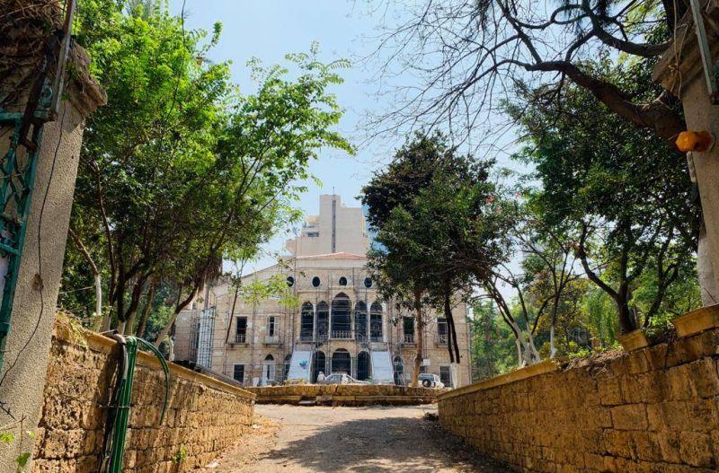 Coup de bleu sur une belle villa patrimoniale de la rue du Liban