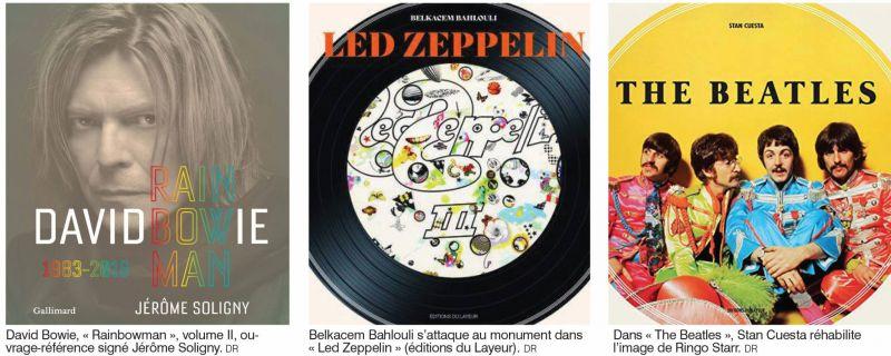 Led Zep, électro, Bowie: la musique, ça se lit aussi !