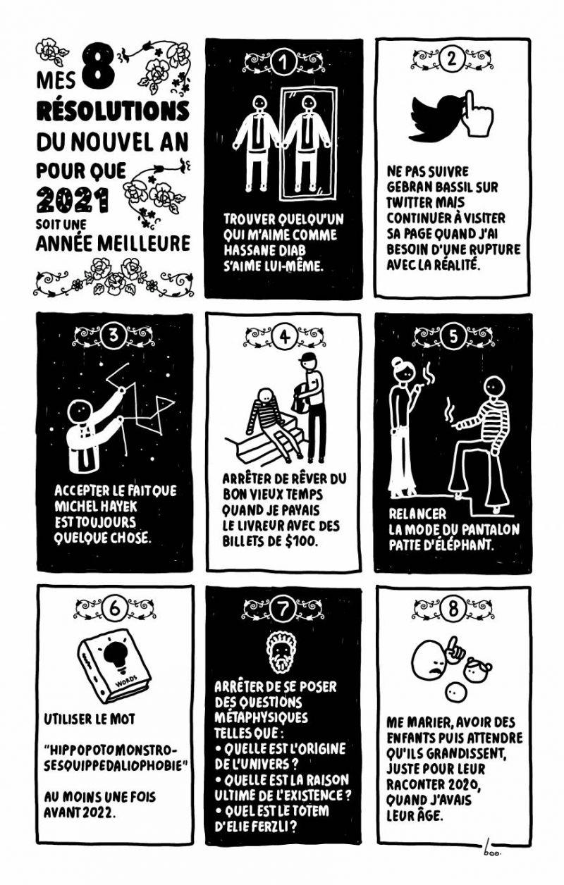 Les résolutions, pour 2021, de The Art of Boo