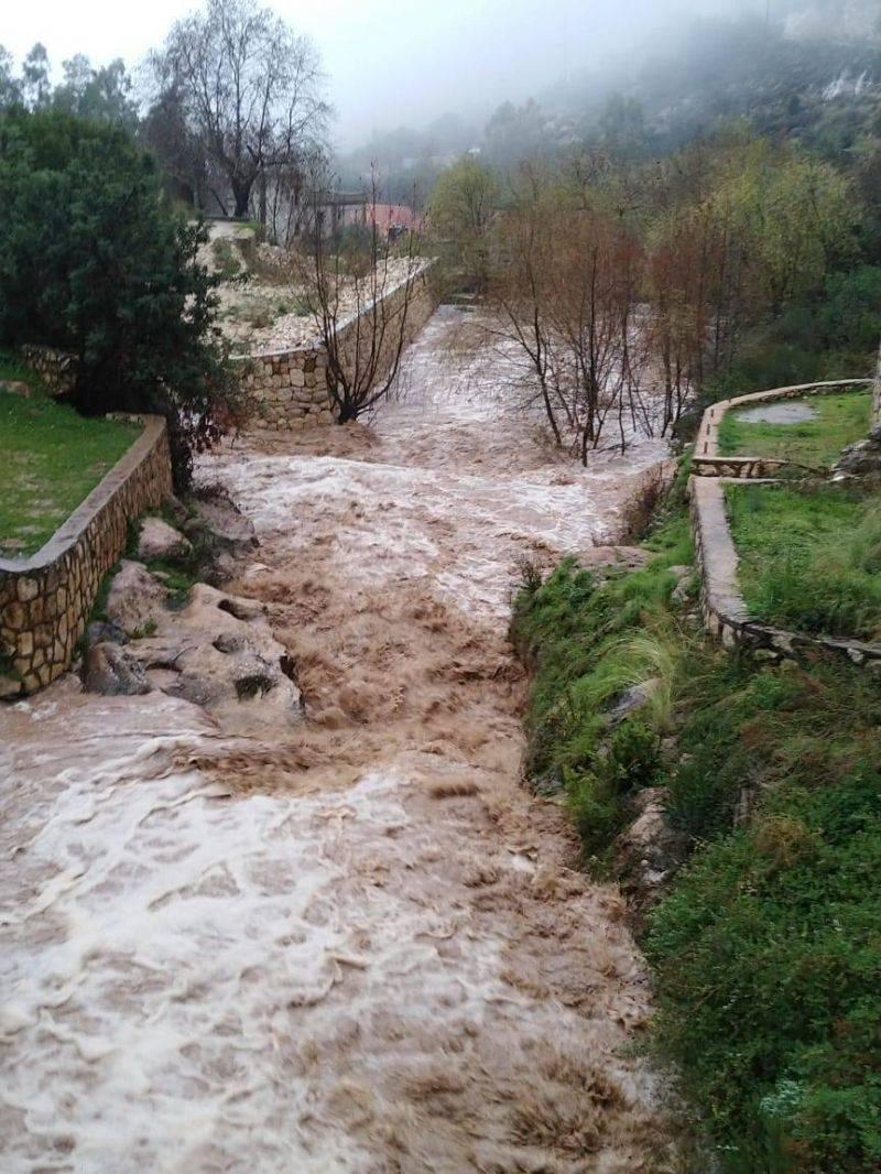 Pluies diluviennes et inondations à travers le Liban