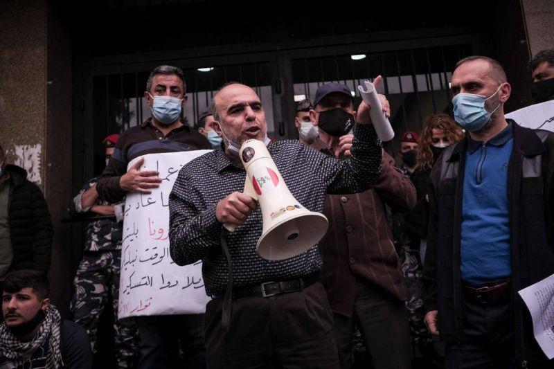 Sit-in devant le ministère des Affaires sociales