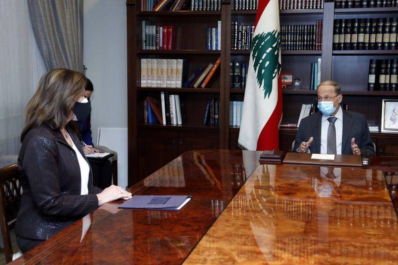 Aoun et Berry insistent auprès de Shea sur l'importance de la relance des négociations