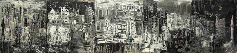 Layla Dagher, sa ville, sa fresque... sur la plate-forme digitale du Salon d'automne