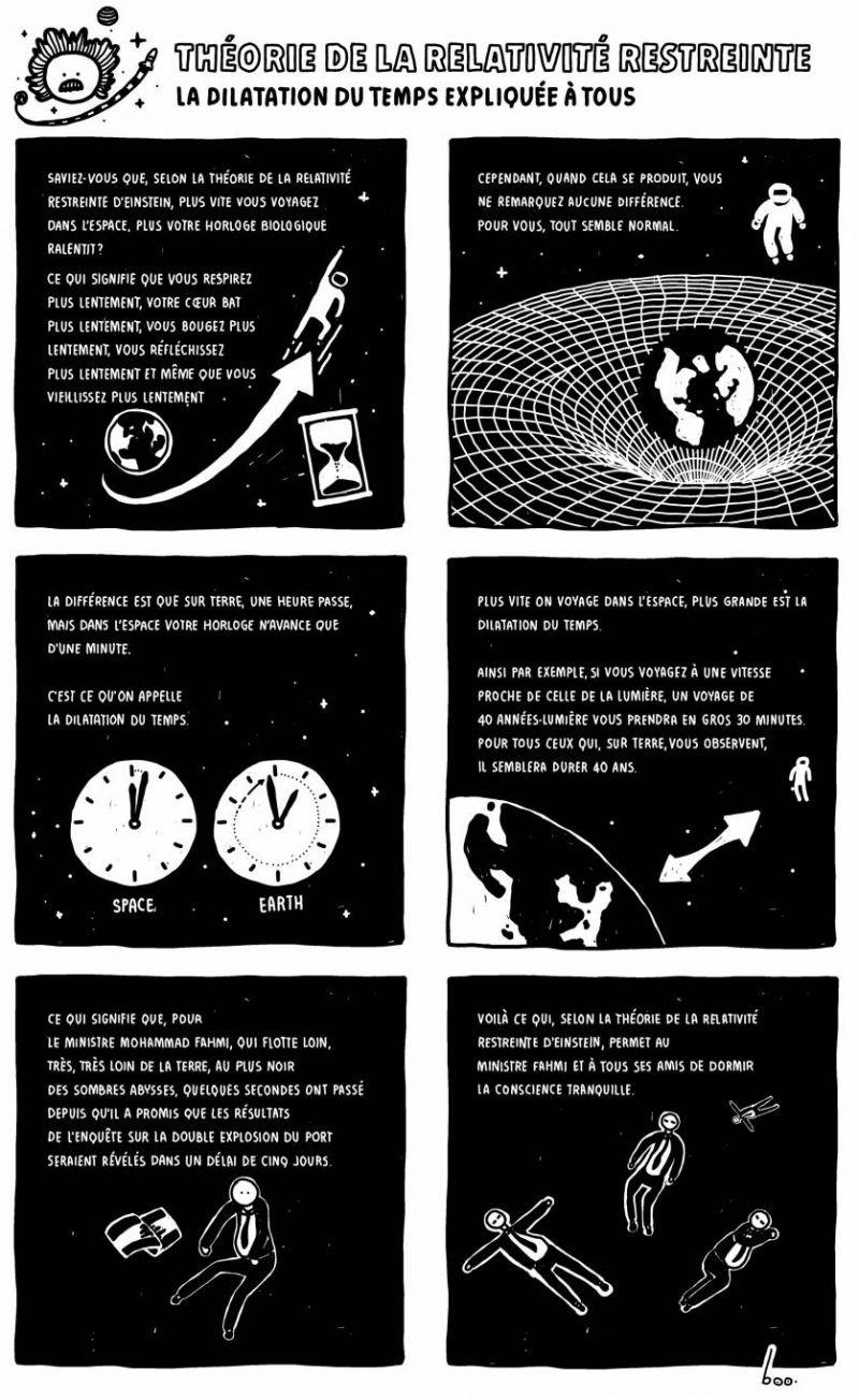 Fahmi, ses amis ministres et la théorie de la relativité, par The Art of Boo