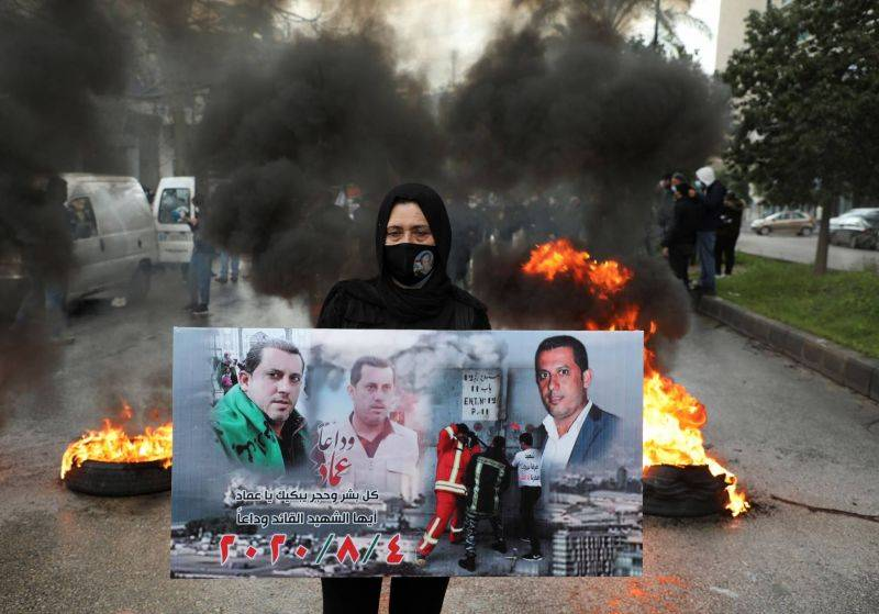 Beirut blast victims' families protest after lead investigator removed from role