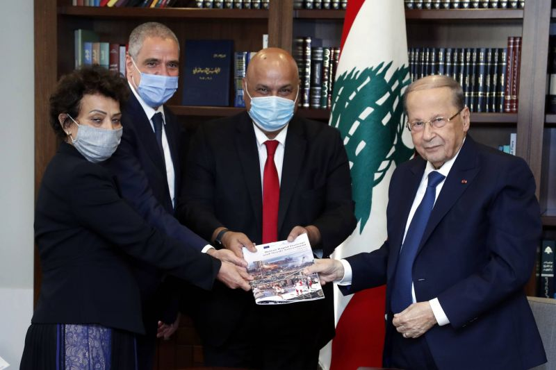 Red Cross monitors were not present for the vaccination of Aoun, his wife and staff, the IFRC says