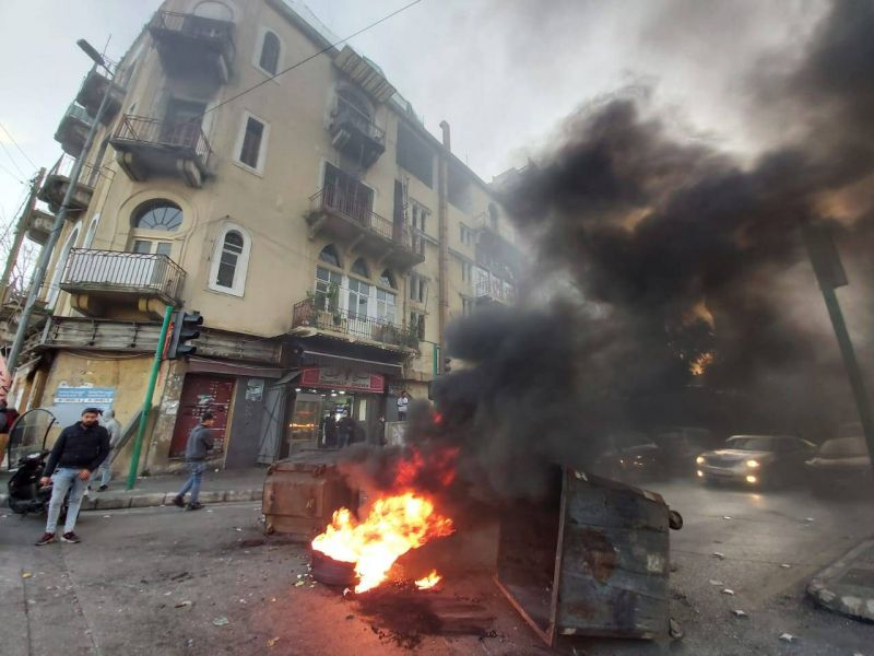 Protests ignite in squares and streets throughout Lebanon in the wake of the lira's record plunge