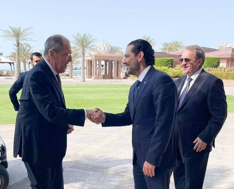 Nouvel appui russe à l'initiative française lors d'un entretien Lavrov-Hariri