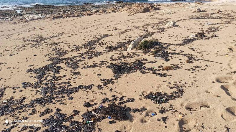 Du goudron à nouveau déversé sur les plages libanaises, jusqu'à Chekka