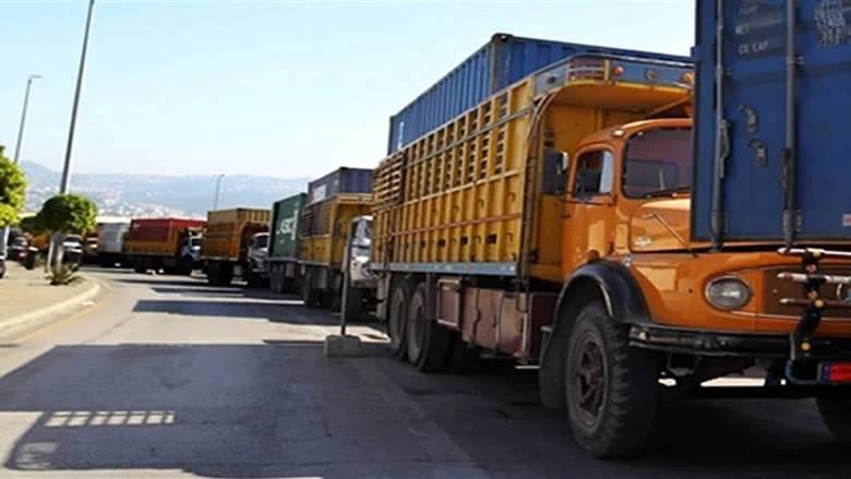 Les camionneurs du port de Beyrouth en grève