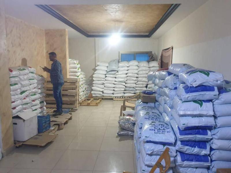 Saisie de près de 70 tonnes d'engrais frelatés provenant de Damas