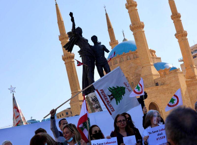 Des collectifs antipouvoir commémorent à Beyrouth le 46e anniversaire de la guerre civile