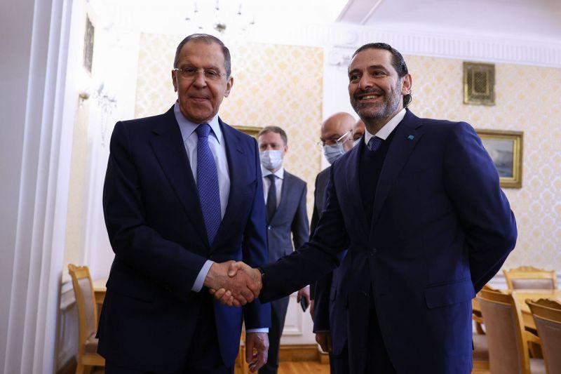 Hariri clôture sa visite à Moscou par un entretien avec Lavrov