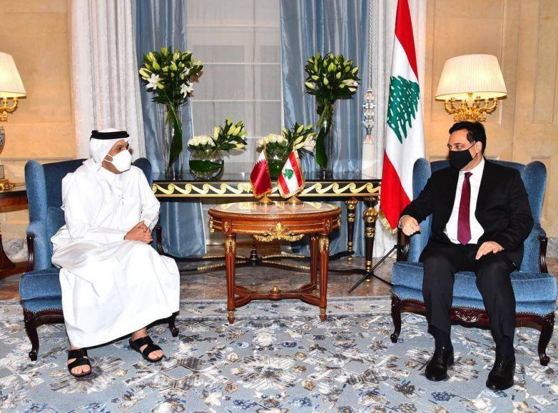 A Doha, Diab s'entretient avec plusieurs officiels qataris