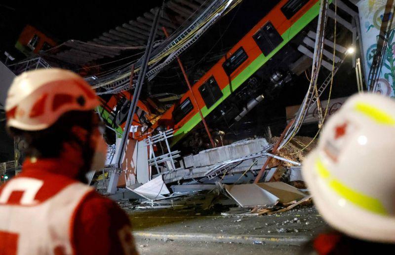Effondrement d'un pont du métro aérien à Mexico: au moins 23 morts et 70 blessés