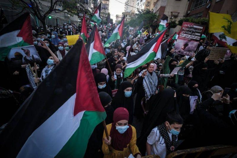 «Mort à Israël», scande la foule réunie à Haret Hreik en soutien à Gaza
