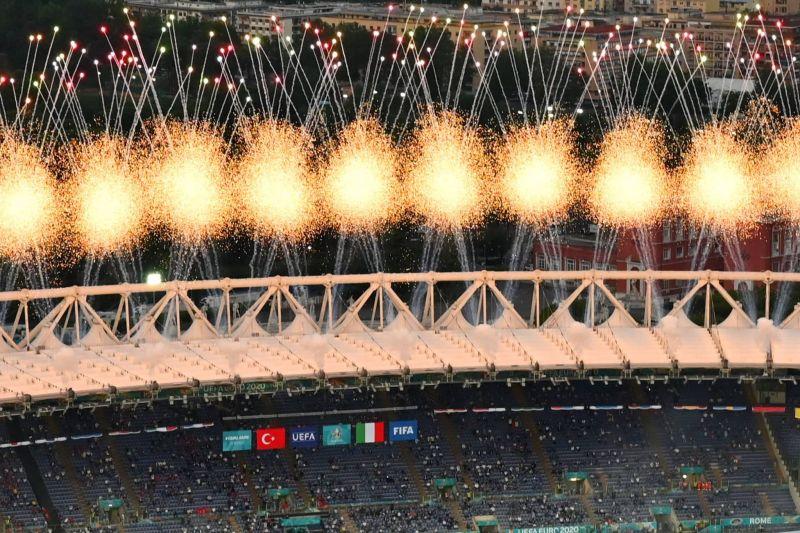 Début de la cérémonie d'ouverture de l'Euro, reporté d'un an en 2020 pour cause de pandémie