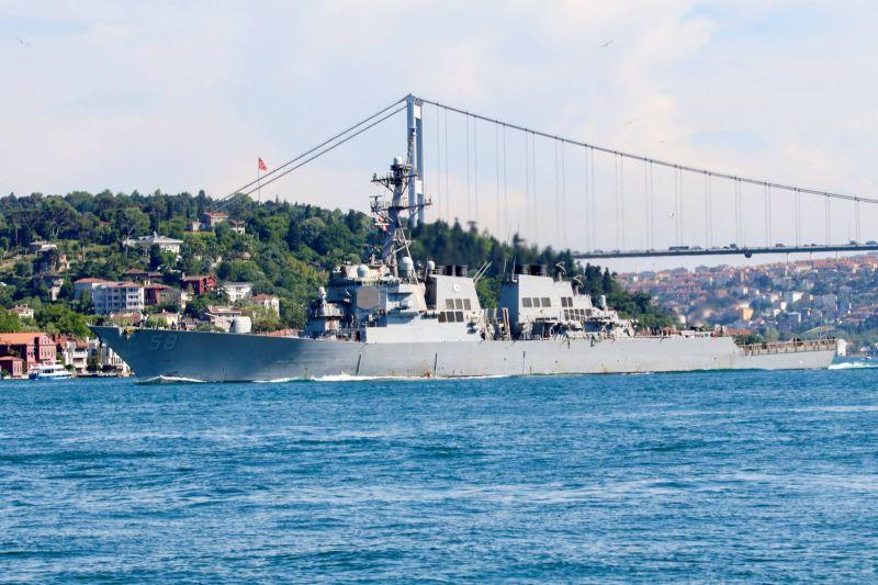 Un destroyer américain a traversé le Bosphore vers la mer Noire
