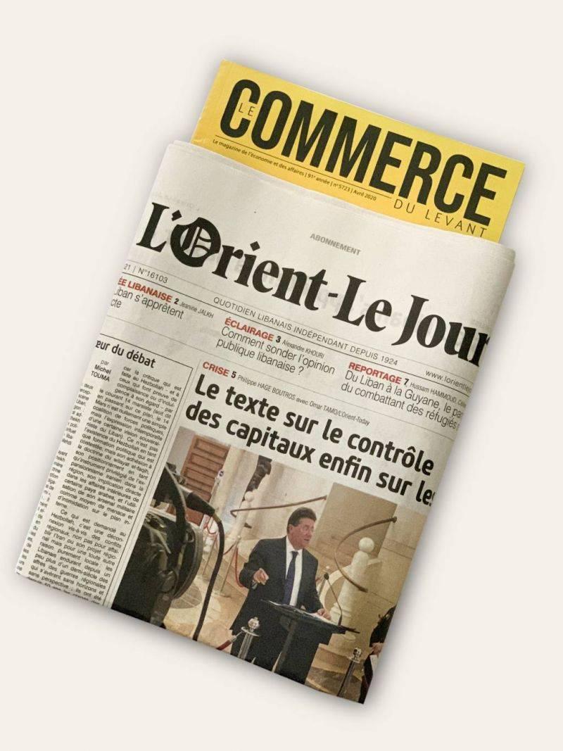 Le Commerce du Levant, a magazine of the L'Orient-Le Jour Group: Challenges, strategic decisions and new chapters