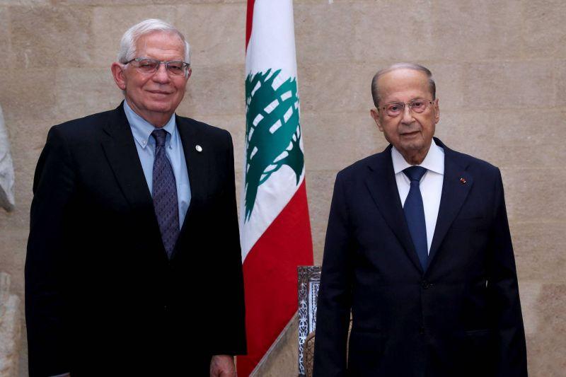 Borrell à Baabda : Les sanctions sont sur la table, on en discute, mais rien n'est encore décidé