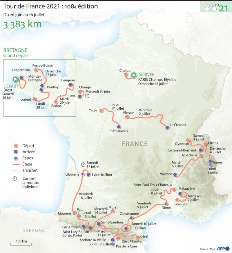 Le Tour de France est chez lui à l'ouest
