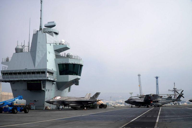 Epidémie sur le porte-avions HMS Queen Elizabeth après une escale à Chypre
