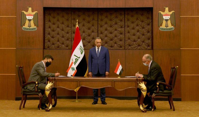 Ghajar signe à Bagdad l'accord pour l'importation d'un million de tonnes de pétrole