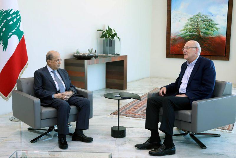 Du surplace, en dépit de discussions que Aoun et Mikati disent positives