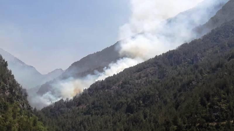 Les feux se poursuivent dans le Akkar, deux hélicoptères de l'armée sur place