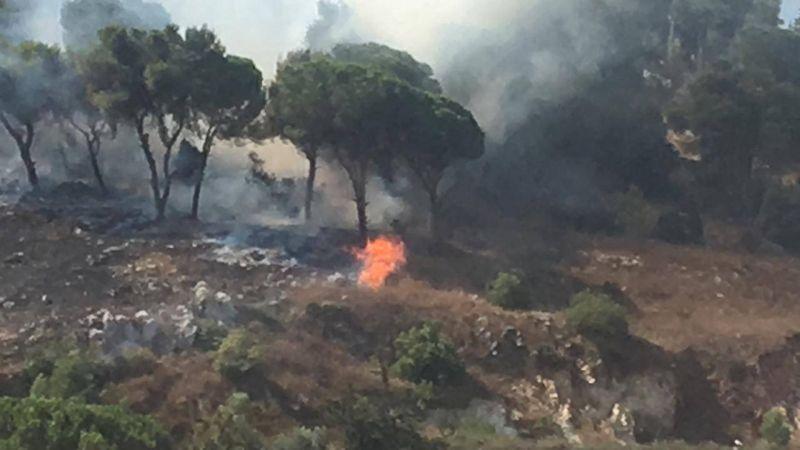 Un incendie se déclare dans la région de Nabatiyé