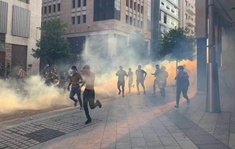 Protesters face off against security forces, demanding accountability on anniversary of Beirut blast