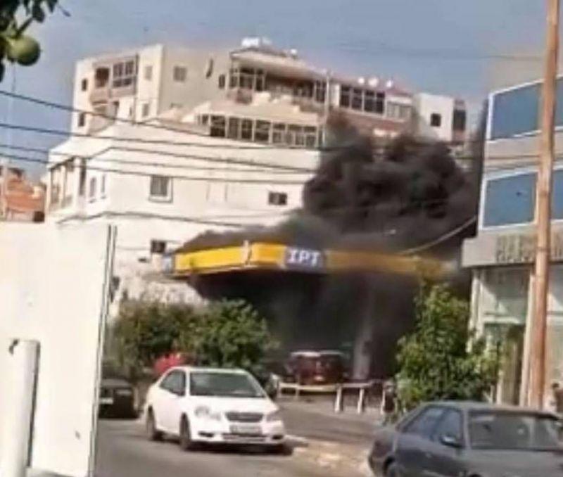 Incendie dans une station d'essence à Saïda