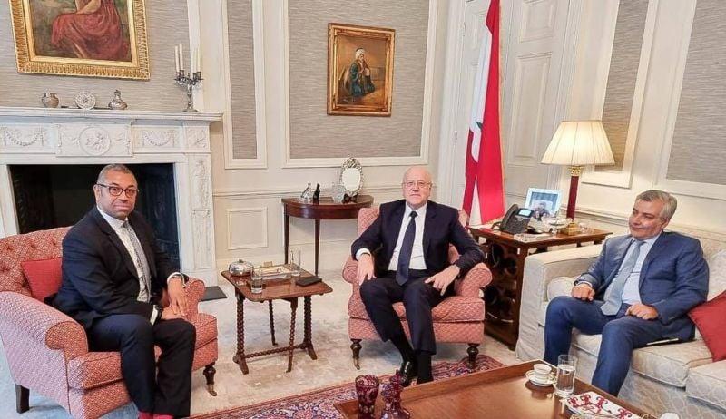 Mikati s'entretient à Londres avec le secrétaire d'État britannique au Moyen-Orient