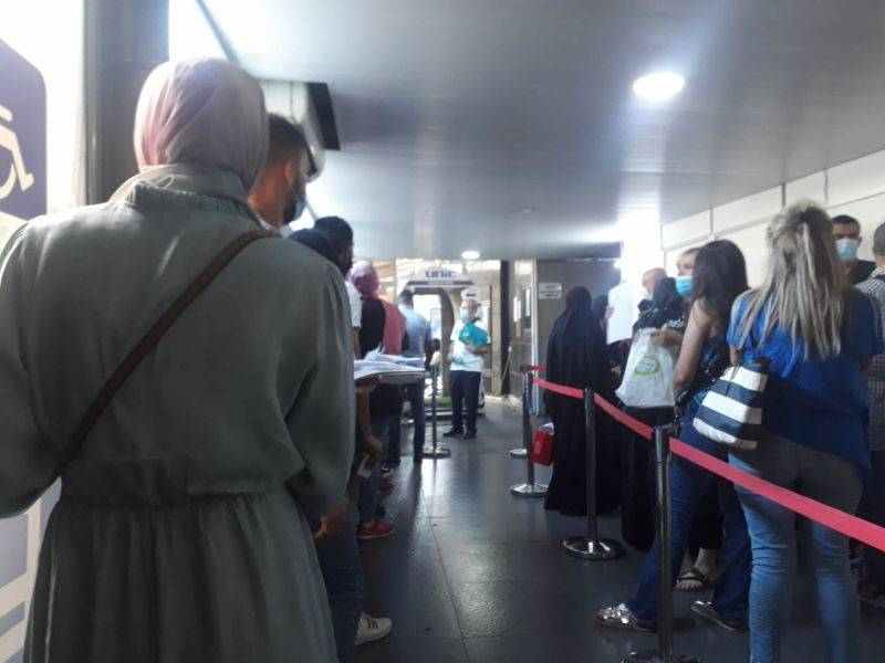 Lebanese eager to leave the country line up at General Security
