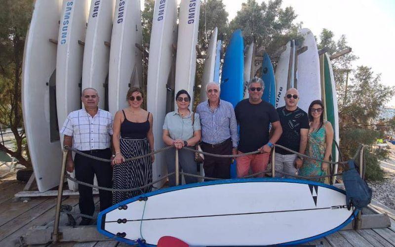 Salem reçoit Kossaïfi au Yacht Club du Liban