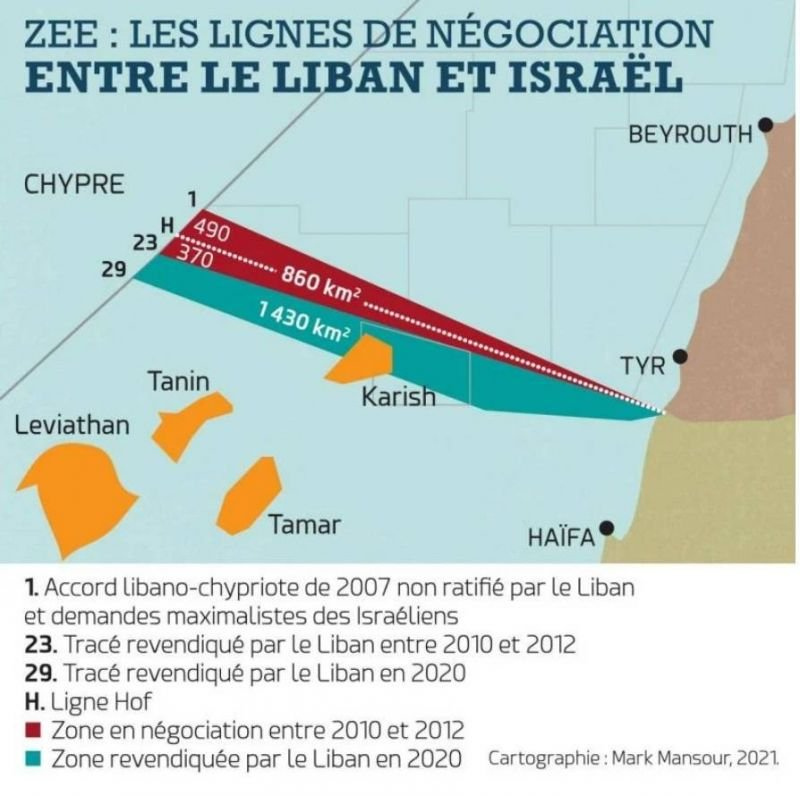 Frontière maritime entre le Liban et Israël: lecture géopolitique d'un épineux dossier