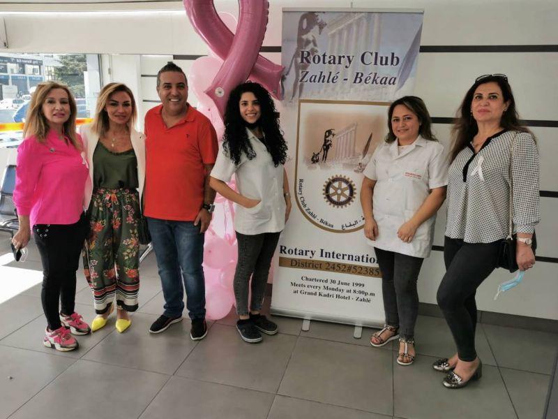 Campagne de prévention contre le cancer du sein du club Rotary à Zahlé