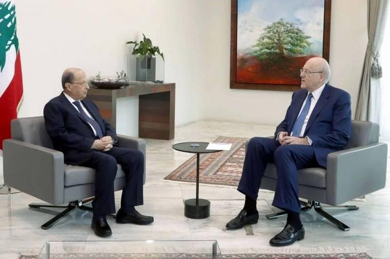 Mikati reçu par Aoun à Baabda, pas de Conseil des ministres en vue