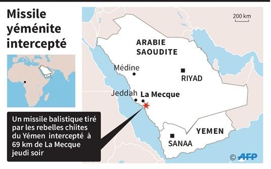 Arabie saoudite : La Mecque visée par un missile balistique